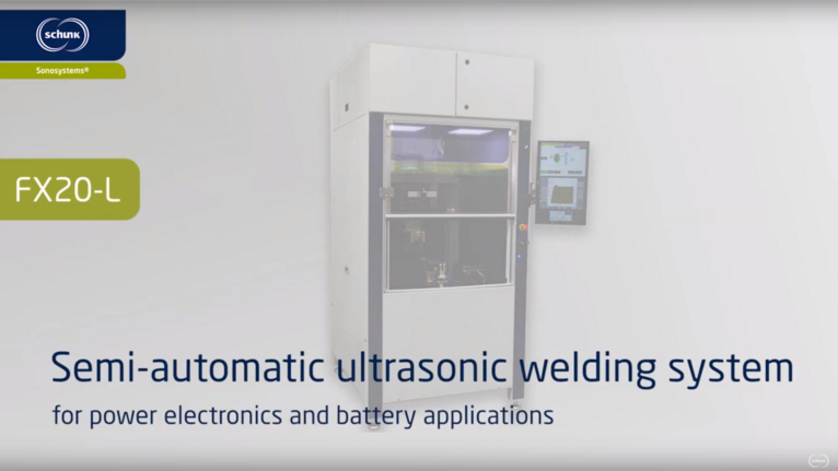 FX20-L - Semi-automatic ultrasonic welding machine for power electronics modules and battery cell contacting systems