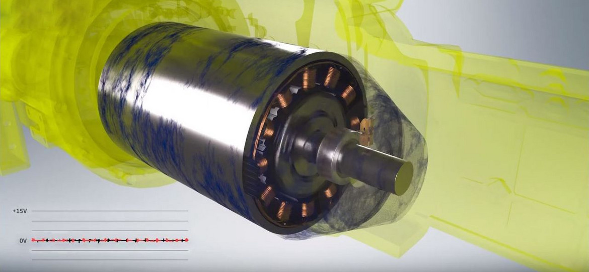 Carbon-based shaft grounding assemblies eliminate interference currents
