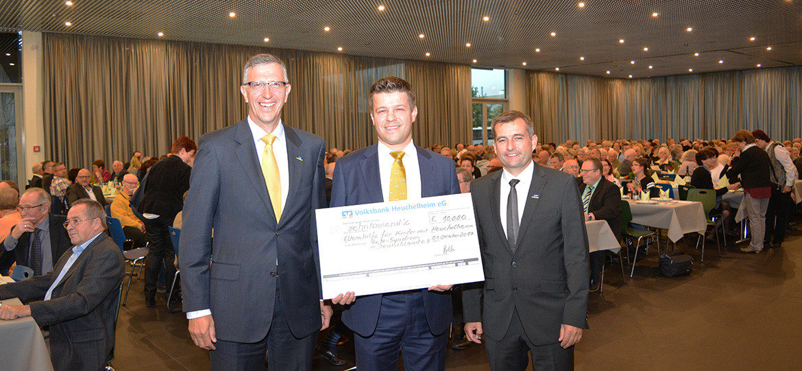 "The technology company presented a donation of €10,000 at the celebration of its annual ""Windhoffest"""