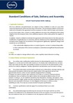 Download: Conditions of Sale Delivery Assembly