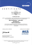 Download: IRIS Certification rules 2017 based on ISO/TS 22163:2017